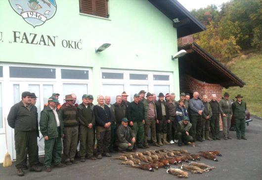 Počast divljači ispre lovačkog doma LD Fazan Okić