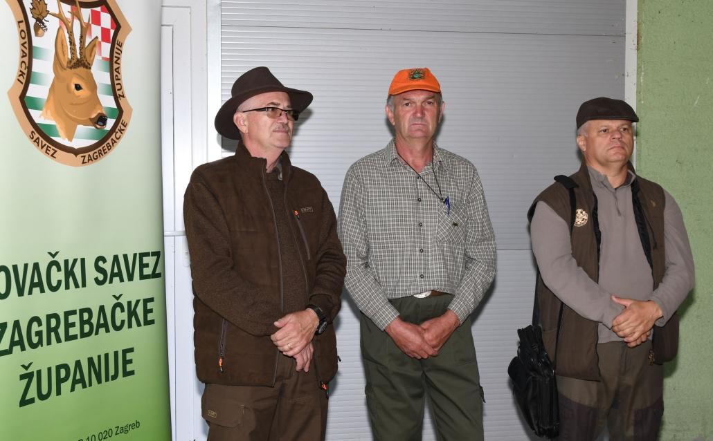 Naši lovnokinološki suci- Branko Riđan, Zlatko Novak i Nenad Bačurin
